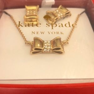 kate spade Jewelry - Kate Spade Bow Necklace and Earring Gift Set